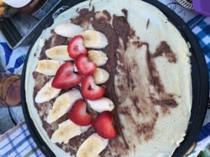 Timber Hill Winery banana strawberry crepes monthly activities