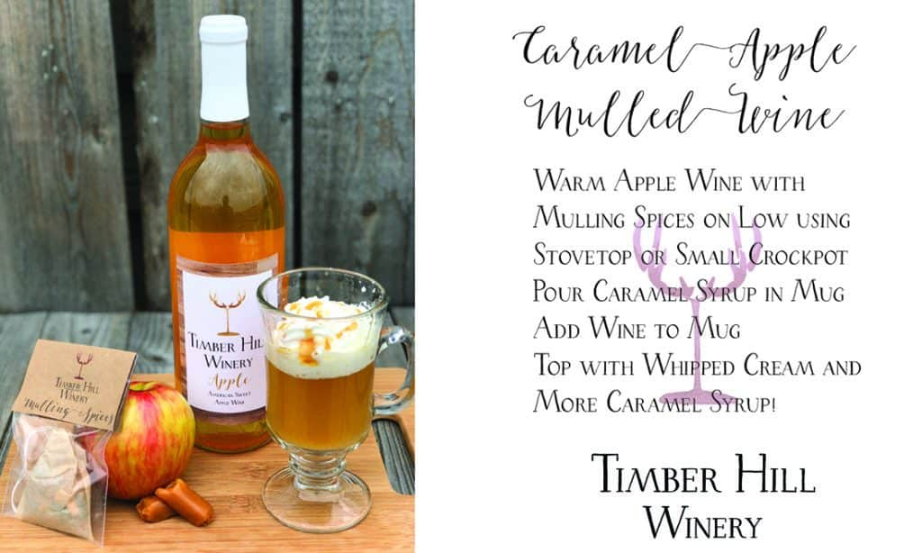 Apple wine with caramel syrup and whipped cream