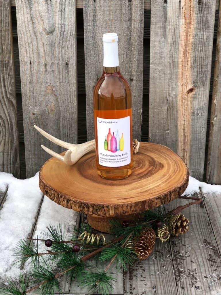 Tuesday Boozeday Blush Holiday Wine