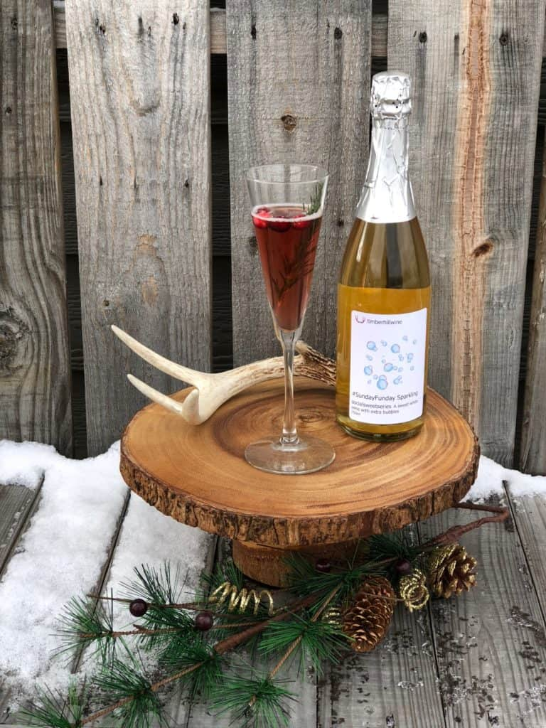 Sunday Funday Sparkling with Cranberry Wine