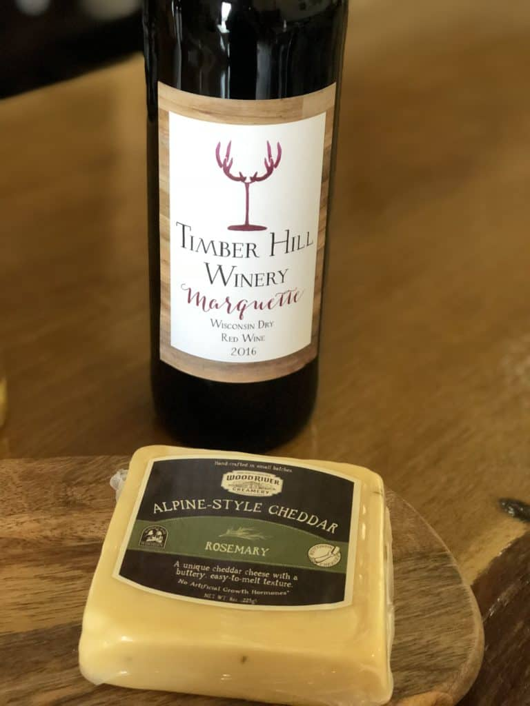 Wisconsin cheese and wine