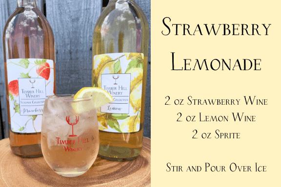 Strawberry Lemonade Wine Cocktail