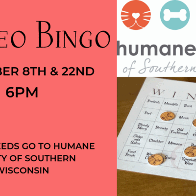 Wineo Bingo for the Humane Society of Southern Wisconsin