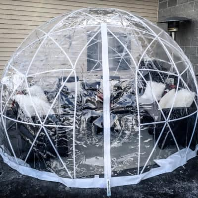 What are those igloos on our patio?
