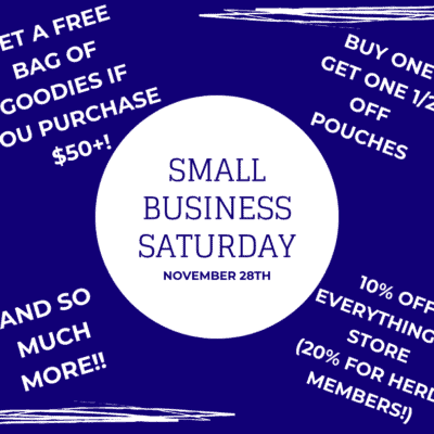 Celebrate Small Business Saturday with us on November 28th!