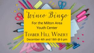 Wineo Bingo for milton youth