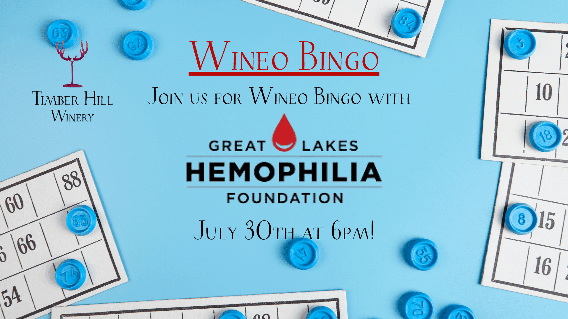 Wineo Bingo with the Great Lakes Hemophilia Foundation