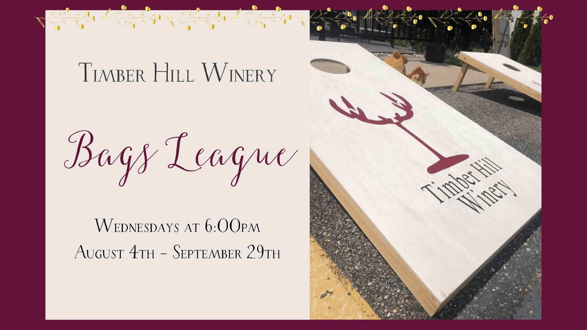 Bags League at Timber Hill Winery