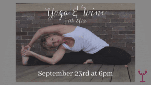 Wine and Yoga with Elise at Timber Hill Winery
