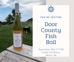 Door County Fish Boil at Timber Hill Winey